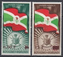 Burundi 1963 - Definitive Stamps, Issues Of 1962 Surcharged - Mi 57-58 ** MNH - Burundi