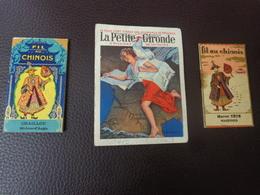 Lot Petits Calendriers Pub 1927-1928-1925-fil Au Chinois Marcel Tete Marennes-chaillou St Jean Angle-la Petite Gironde - Calendriers