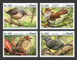 Z08 ANG18130a Angola 2018 Birds Vogel Warblers MNH ** Postfrisch - Angola