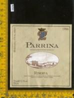 Etichetta Vino Liquore Riserva 1986 La Parrina-Albinia GR - Etichette