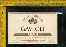 Etichetta Vino Liquore Rosè Spumante Gavioli-Chianciano SI - Etichette