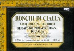 Etichetta Vino Liquore Refosco Dal Peduncolo Rosso Di Cialla 1988-Prepotto - Etichette