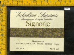 Etichetta Vino Liquore Signorie Valtellina Superiore-Chiuro SO - Etichette