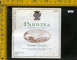 Etichetta Vino Liquore Podere Tinaro 1990 Parrina-Albinia GR - Etichette