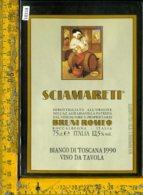 Etichetta Vino Liquore Bianco Di Toscana Sciamareti 1990-Roccalbegna GR - Etichette