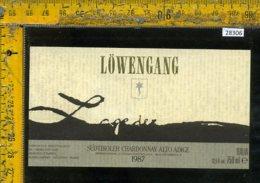 Etichetta Vino Liquore Chardonnay Lowengang 1987-Alto Adige BZ - Etichette
