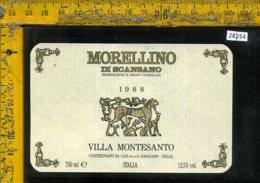Etichetta Vino Liquore Morellino Di Scansano 1988 Villa Montesanto-Gaggiano - Etichette