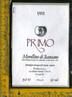 Etichetta Vino Liquore Primo 1988 Bargagli-Scansano GR - Etichette