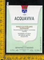 Etichetta Vino Liquore Bianco Di Pitigliano 1990 Acquaviva-Montemerano - Etichette
