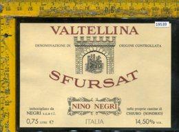 Etichetta Vino Liquore Valtellina Sfursat N. Negri-Chiuro SO - Etichette