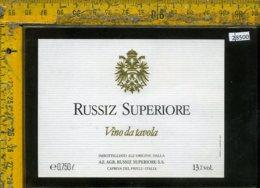 Etichetta Vino Liquore Russiz Superiore-Capriva Del Friuli GO - Etichette