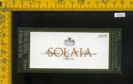 Etichetta Vino Liquore Solaia 1979 Marchesi Antinori - Firenze - Etiketten