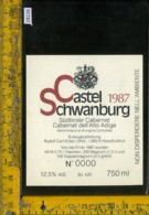 Etichetta Vino Liquore Cabernet Dell'Alto Adige 1987-Castel Schwanburg BZ - Etichette