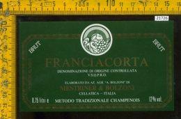 Etichetta Vino Liquore Brut Franciacorta Bolzoni-Cellatica - Etichette