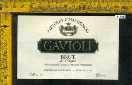 Etichetta Vino Liquore Spumante Brut Millesimato Gavioli-Chianciano - Etichette