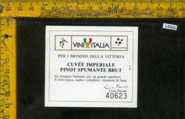 Etichetta Vino Liquore Pinot Spumante Cuvèe Imperiale - Livio Pavese - Etichette