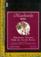 Etichetta Vino Liquore Macchiaiolo Rosso 1990-Maremma Toscana GR - Etichette