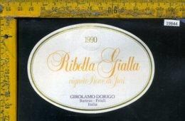 Etichetta Vino Liquore Ribolla Gialla 1990 Girolamo Dorigo-Buttrio UD - Etichette