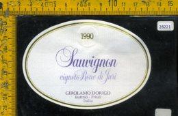 Etichetta Vino Liquore Sauvignon 1990 Girolamo Dorigo-Buttrio UD - Etichette