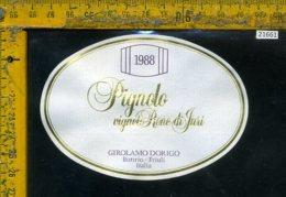 Etichetta Vino Liquore Pignolo 1988 Girolamo Dorigo-Buttrio UD - Etichette