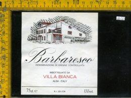 Etichetta Vino Liquore Barbaresco Villa Bianca-Alba CN - Etichette