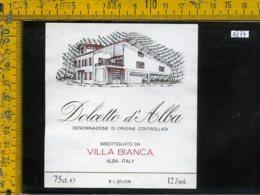 Etichetta Vino Liquore Dolcetto D'Alba Villa Bianca-Alba CN - Etichette