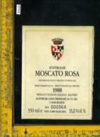 Etichetta Vino Liquore Moscato Rosa 1988 Sudtiroler BZ - Etichette