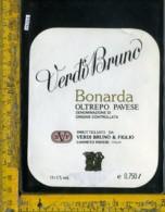 Etichetta Vino Liquore Bonarda Verdi Bruno-Canneto Pavese (taglio) - Etichette