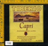 Etichetta Vino Liquore Capri Vinicola Tiberio - Anacapri NA - Etichette