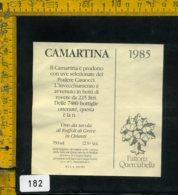 Etichetta Vino Liquore Camartina 1985 Querciabella-Ruffoli Di Greve In Chianti - Etichette