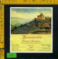 Etichetta Vino Liquore Chianti C. Monsanto 1983 Barberino D'Elsa FI - Etichette
