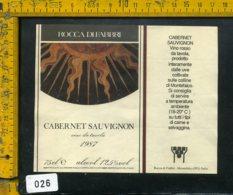 Etichetta Vino Liquore Cabernet Sauvignon 1987 Rocca Di Fabbri-Montefalco PG - Etichette