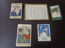 Lot Petits Calendriers Pub 1923-1926-1927-1925-la Petite Gironde-creme Eclipse-malpas A Dole-pilules Dupuis-aspirine - Calendarios