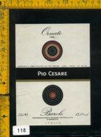 Etichetta Vino Liquore Barolo Ornato 1985 Pio Cesare-Alba CN - Etichette