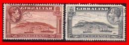 GIBRALTAR SELLOS 1938 -1945 NEW DRAWINGS - Gibraltar