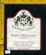 Etichetta Vino Liquore Rosso Della Casa Loredan-Selva Del Montello - Etichette