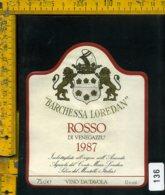 Etichetta Vino Liquore Rosso Di Venegazzu 1987 Loredan-Selva Del Montello - Etichette