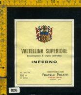 Etichetta Vino Liquore Valtellina S. Inferno F.lli Polatti-Sondrio - Etichette