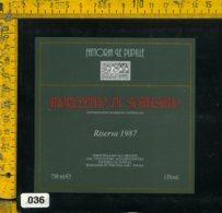 Etichetta Vino Liquore Morellino Di Scansano 1987 Fa. Le Pupille-Magliano GR - Etichette