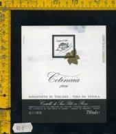 Etichetta Vino Liquore Sangioveto Di Toscana 1986 Cetinaia-Gaiole In Chianti - Etichette