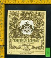 Etichetta Vino Liquore Rosso Di Venegazzu 1982 Barchessa Loredan-S. Del Montello - Etichette