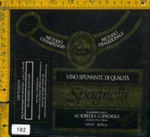 Etichetta Vino Liquore Brut Spumante Spagnolli-Aldeno TN - Etichette