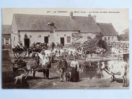 C.P.A. : 76 LE TREPORT : Au Mont Huon, La Ferme Modèle Normande, En 1915, Superbe Animation - Le Treport
