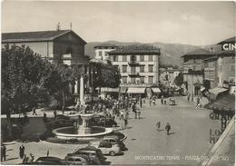 W1350 Montecatini Terme (Pistoia) - Piazza Del Popolo - Auto Cars Voitures / Viaggiata 1954 - Italia