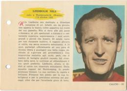 SCHEDA N° 53 NILS LIEDHOLM MILAN ENCICLOPEDIA DELLO SPORT 1958/59 - Sport