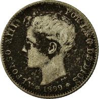 Monnaie, Espagne, Alfonso XIII, Peseta, 1899, Madrid, B+, Argent, KM:706 - [ 1] …-1931 : Royaume