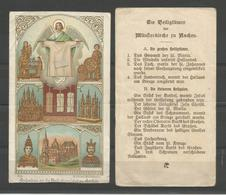 Holy Card.Reliek. Andenken An Die Heiligtumsfahrt Zu Aachen - Religion & Esotérisme