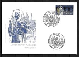 1993 Joint / Gemeinschaftsausgabe Germany, Czech Republic Slovakia, FDC GERMANY: Nepomuk - Gezamelijke Uitgaven