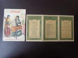 Lot Petits Calendriers Pub 1910-1912-machine A Coudre Singer La Cigale Et Le Fourmi Rochefort-la Nationale Vie Assurance - Calendriers