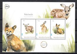 Nederland 2019 Persoonlijke Zegel, Zoogdieren, Hert, Haas, Vos,  Deer, Hare, Fox - Periode 2013-... (Willem-Alexander)